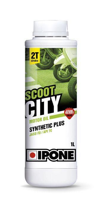 huile moteur 2t ipone scoot city fraise 1l lubrifiant. Black Bedroom Furniture Sets. Home Design Ideas