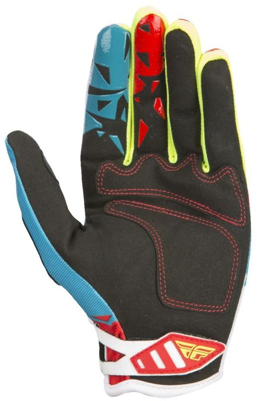 Gants cross Fly Racing Kinetic rouge/bleu - 2