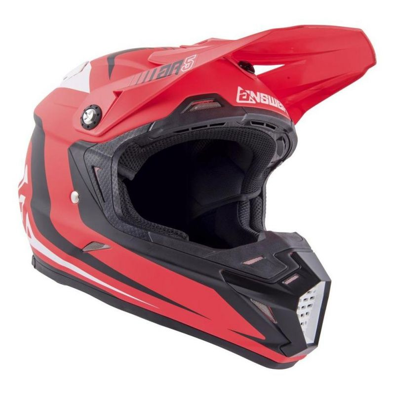 Casque cross Answer AR5 Pulse rouge/blanc - 2