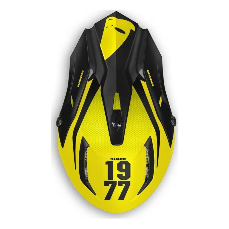 Casque cross UFO Quiver Shedir noir/jaune - 1