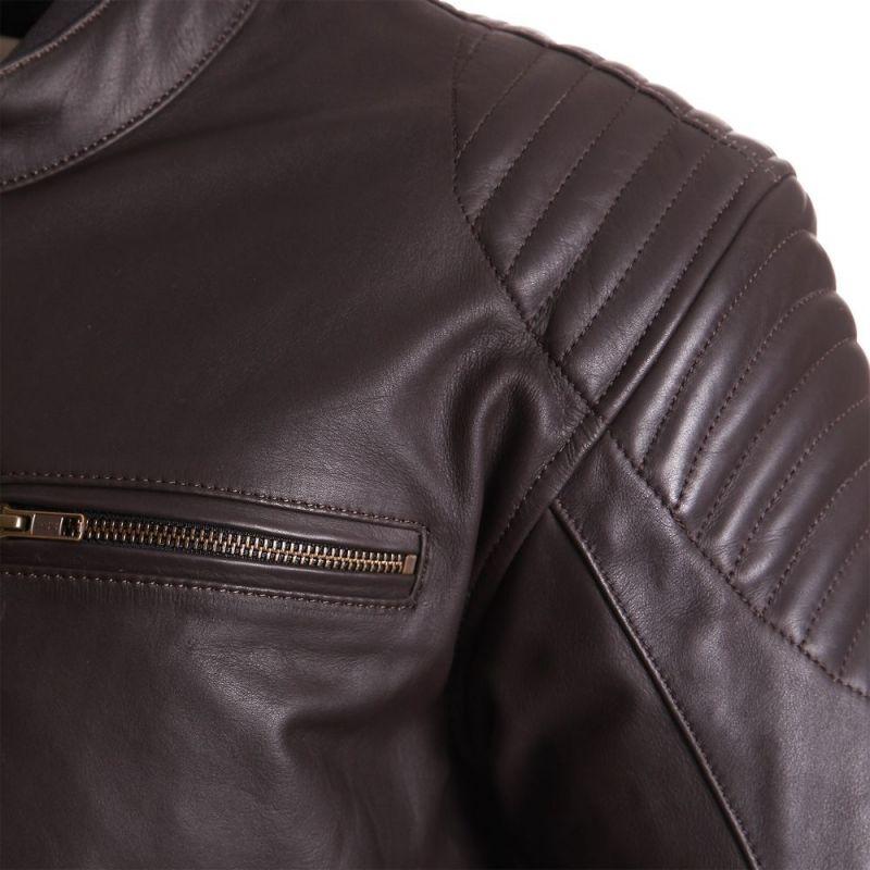 Blouson cuir segura marron