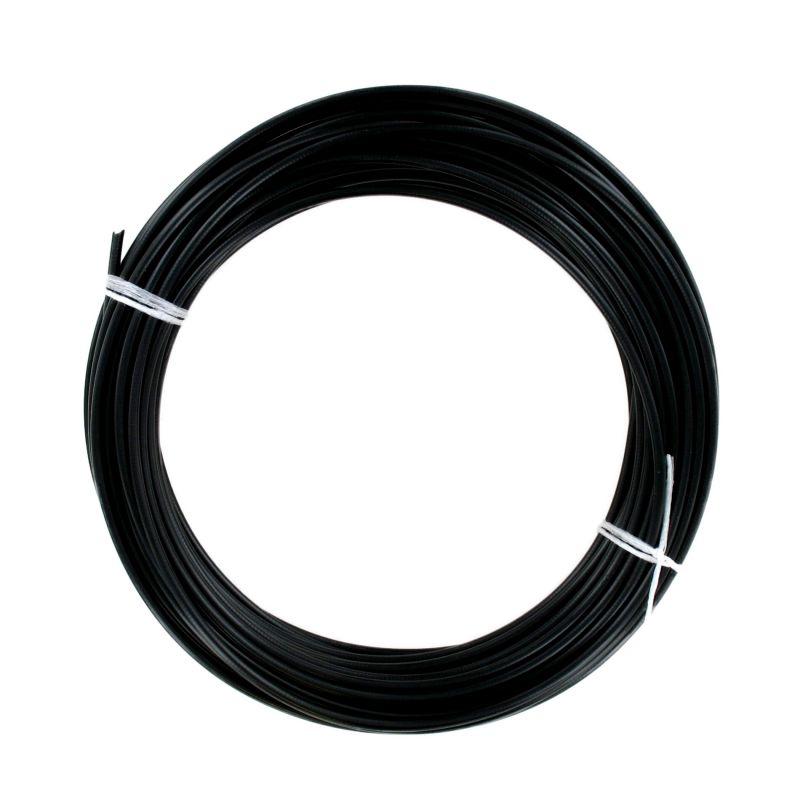 Rouleau de 25 mètres de gaine fil plat 6mm Noire - Ø31/10