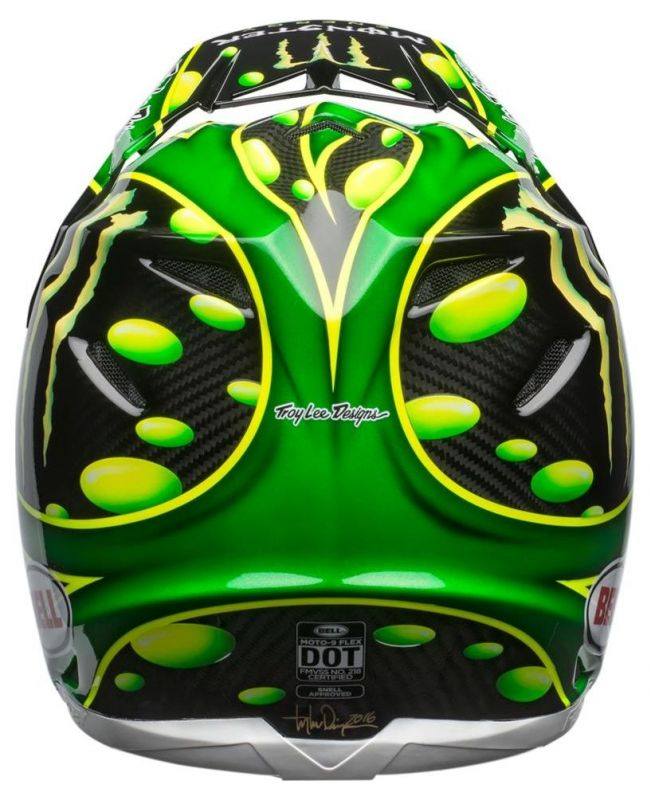 Casque cross Bell Moto 9 Flex MC Grath Monster Replica 18.0 Gloss - 7