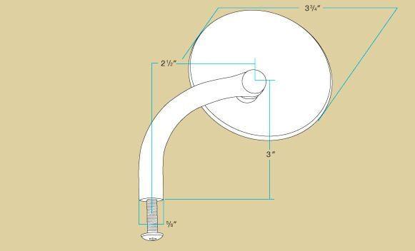 Rétroviseurs Biltwell rond noir fixation sur levier (paire) - 2