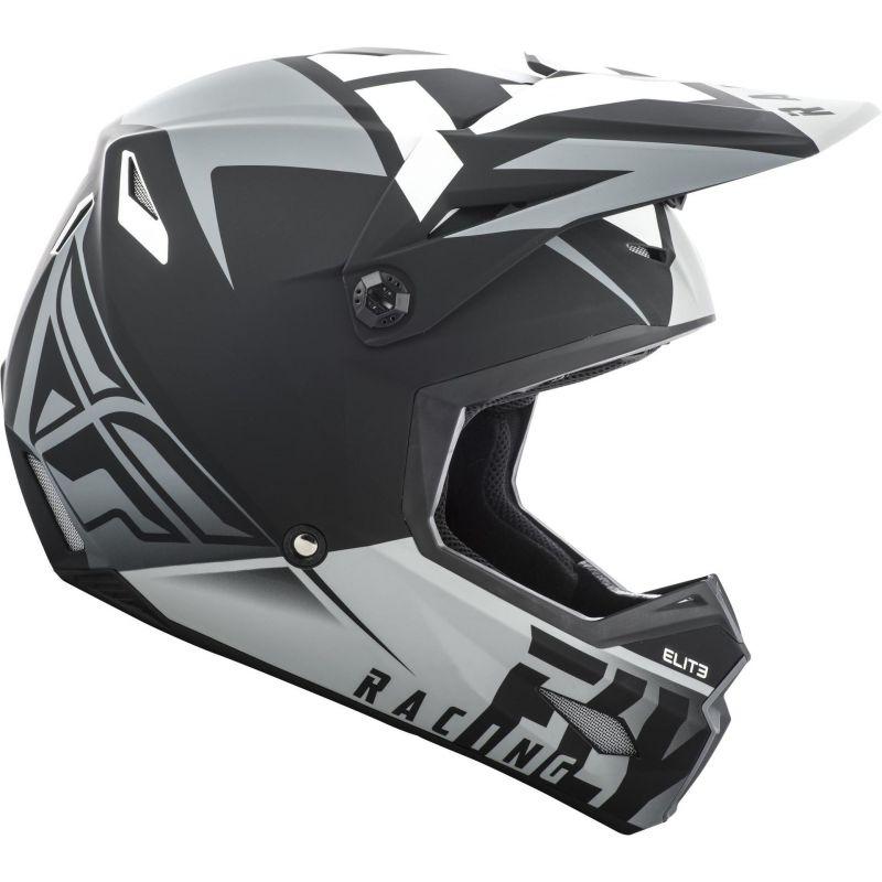 Casque cross Fly Racing Elite Vigilant noir/gris mat - 1