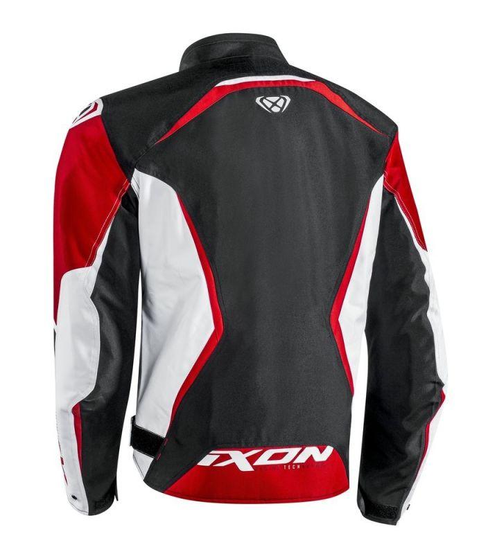 Blouson textile Ixon SPRINTER noir/blanc/rouge - 1