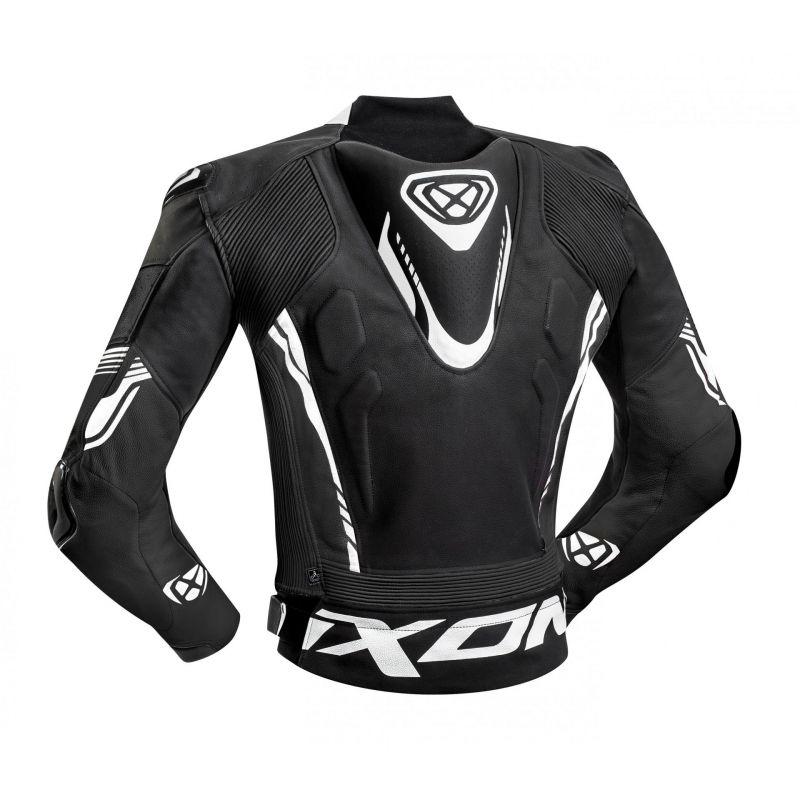 Blouson cuir Ixon Vortex 2 noir/blanc - 1