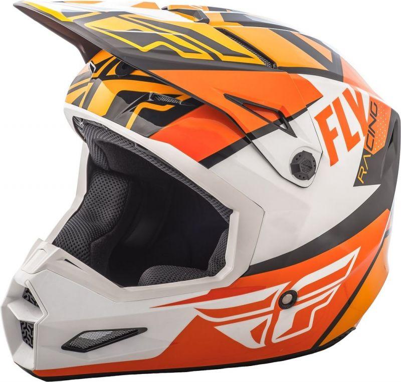 Casque cross Fly Racing Elite Guild noir/orange/blanc