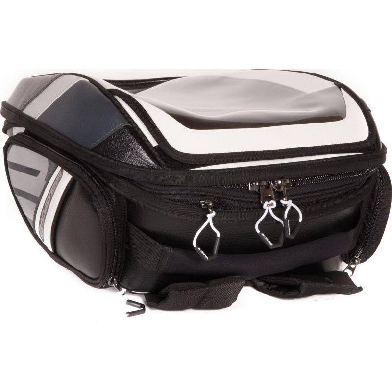 sacoche de r servoir bagster stunt evo noir blanc pi ces bagagerie sur la b canerie. Black Bedroom Furniture Sets. Home Design Ideas