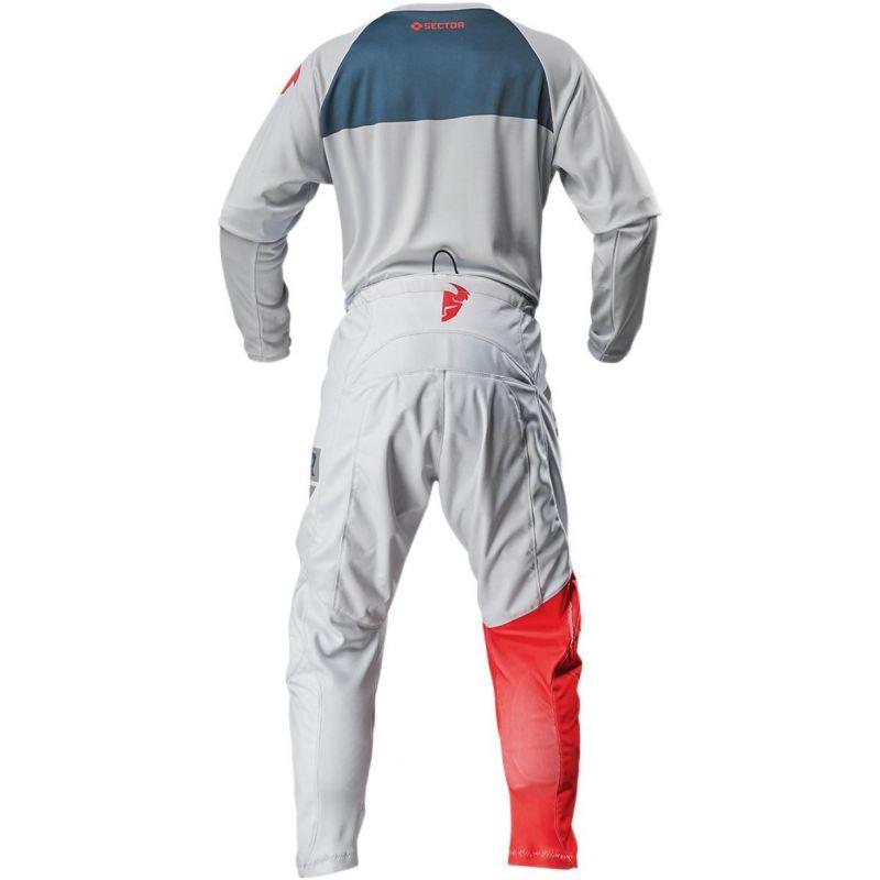 Pantalon cross enfant Thor Sector Shear gris clair/rouge - 4
