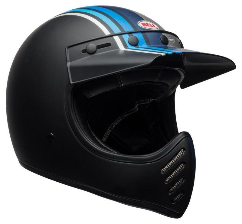 Casque Bell Moto 3 Matte argent/noir/blue Stripes - 6
