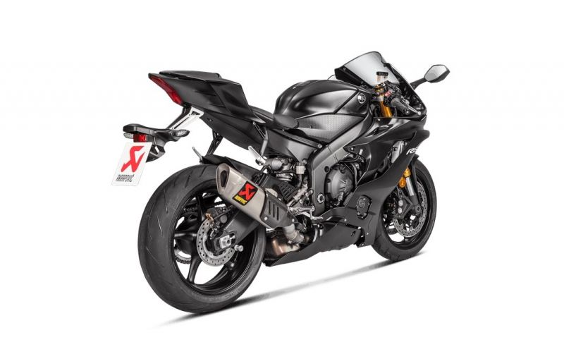 silencieux akrapovic titane yamaha yzf r6 2017 pi ces echappement sur la b canerie. Black Bedroom Furniture Sets. Home Design Ideas