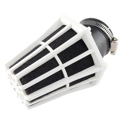 Filtre à Air Tun'R D28-35 Hexagonal Coude 30° Corps Blanc Mousse Noir