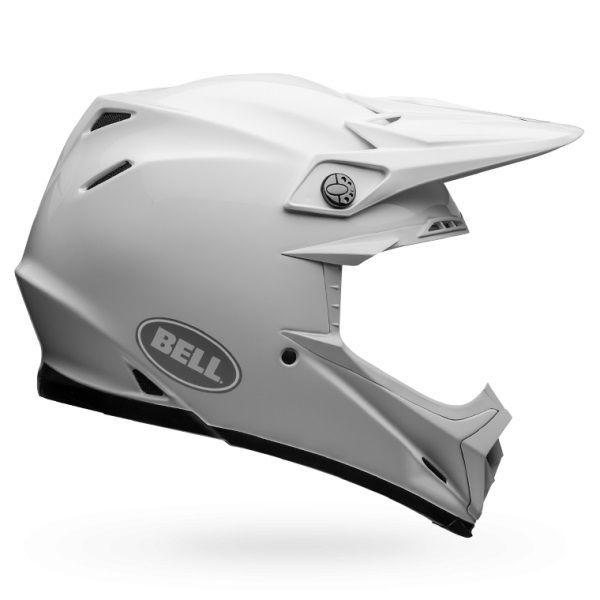 Casque Cross Bell Carbon Flex Solid Blanc Casques Moto Sur La