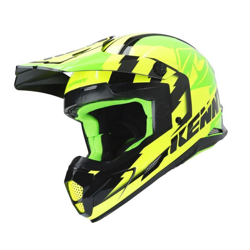 Casque cross Kenny Track vert fluo/jaune