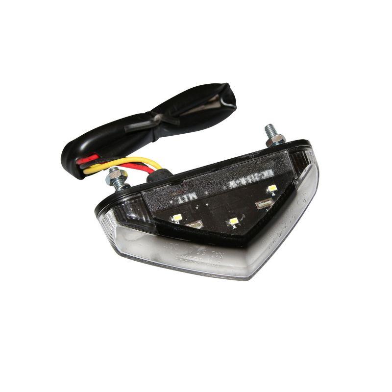 Feu arrière leds Replay LD transparent avec stop et éclairage de plaque - 1