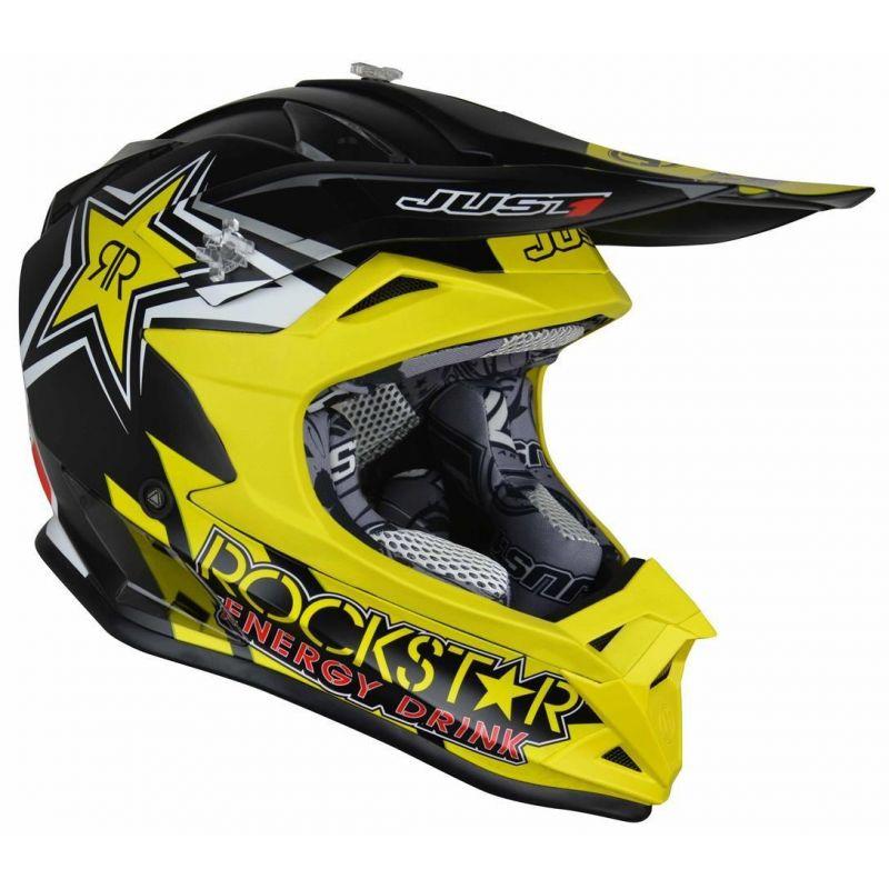 Casque cross enfant Just1 J32 Pro Rockstar 2.0 noir / jaune - 1