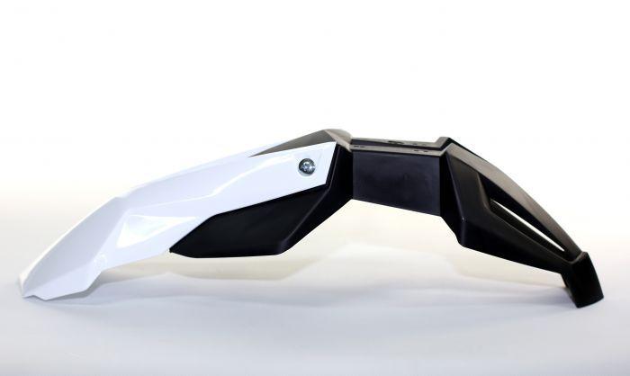 garde boue noend super motard universel avant noir blanc pi ces car nage sur la b canerie. Black Bedroom Furniture Sets. Home Design Ideas
