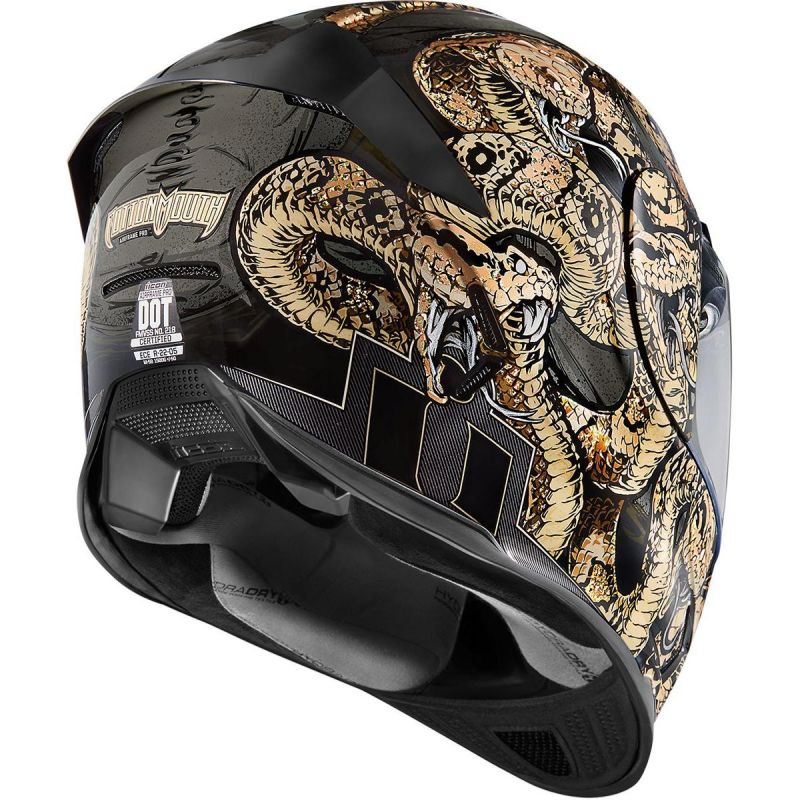 Casque intégral Icon Airframe Pro Cottonmouth or - 1
