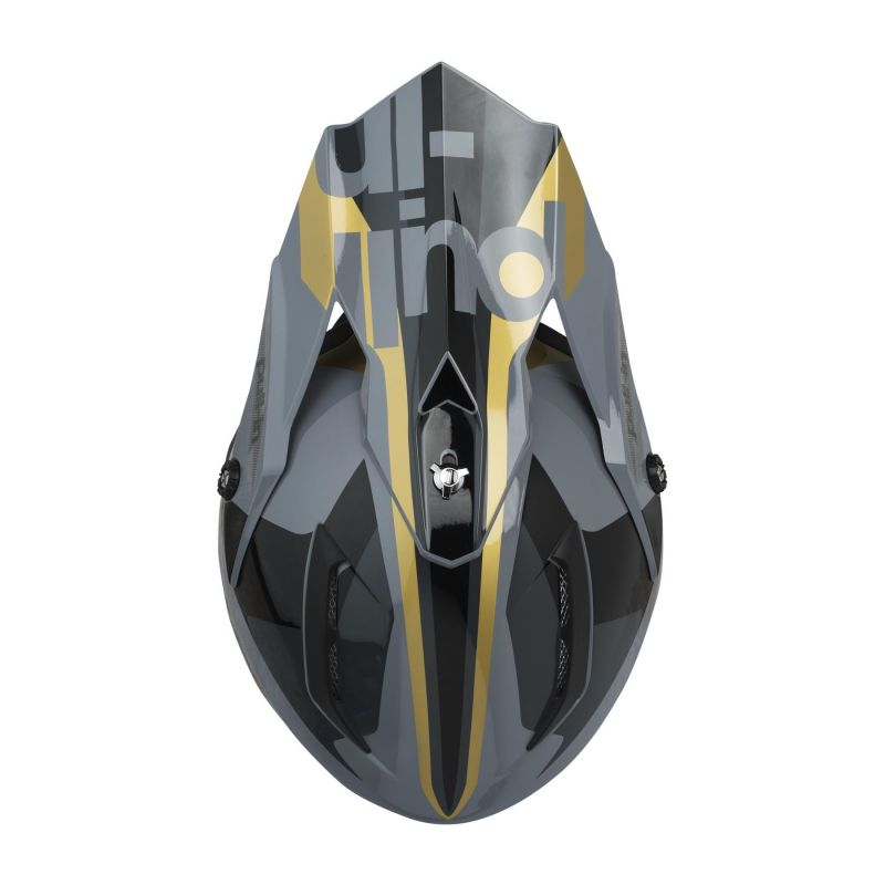 Casque cross Pull-in Race gris/or - 2