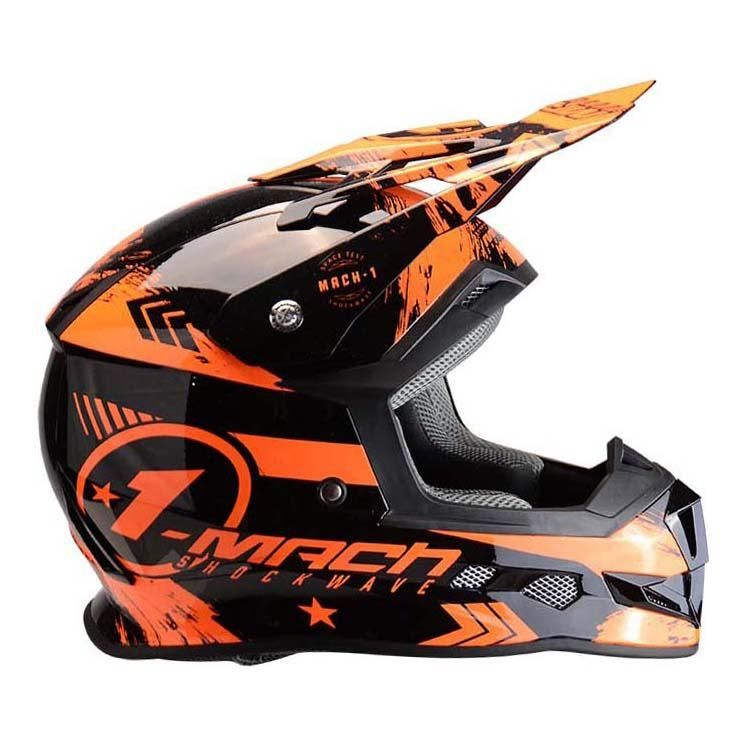Casque cross Trendy T-902 Mach1 noir / orange