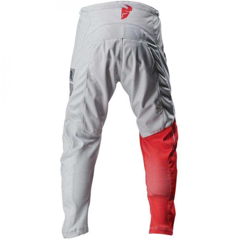 Pantalon cross enfant Thor Sector Shear gris clair/rouge - 1