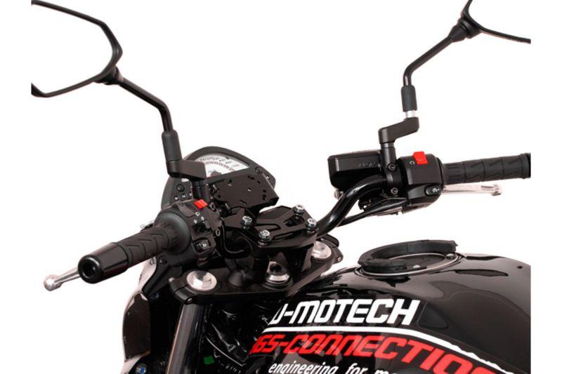 Kit d'adaptation Garmin Zumo 340/350/390/590/595/660 noir pour support GPS SW-MOTECH Nonshock / QUIC