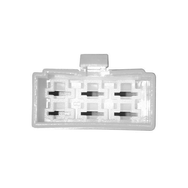 Connectique pour régulateur rectangulaire femelle à languettes - 6 cosses mâles moyennes