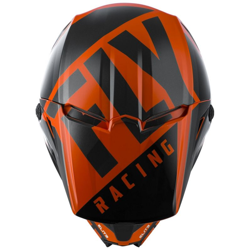 Casque cross Fly Racing Elite Vigilant orange/noir - 2