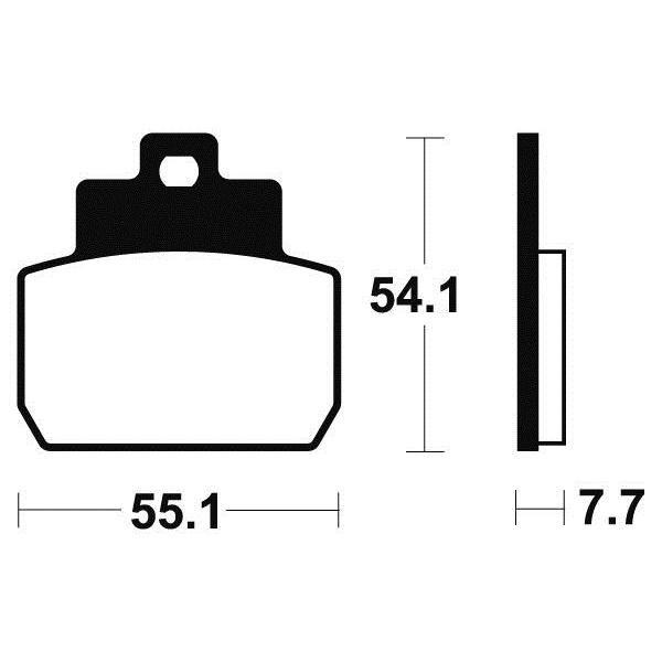 Plaquettes de frein Tecnium MSS331 métal fritté