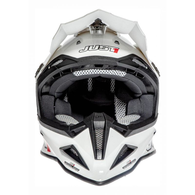 Casque cross Just1 J12 Solid blanc - 3