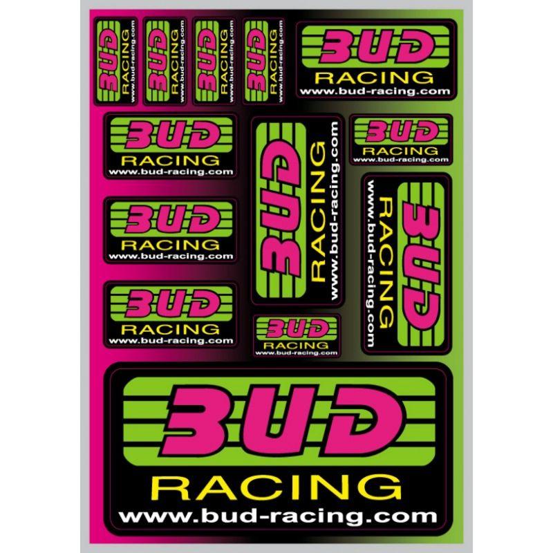 Planche d'autocollants Bud Racing A5 21x15cm