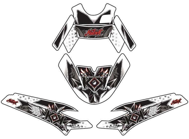 Kit déco Kutvek Demon rouge Peugeot Ludix