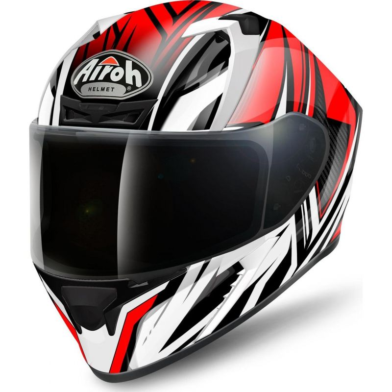 Casque Intégral Airoh Valor Conquer Rouge Casques Moto Sur La