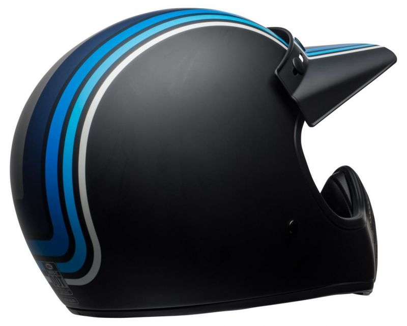 Casque Bell Moto 3 Matte argent/noir/blue Stripes - 5