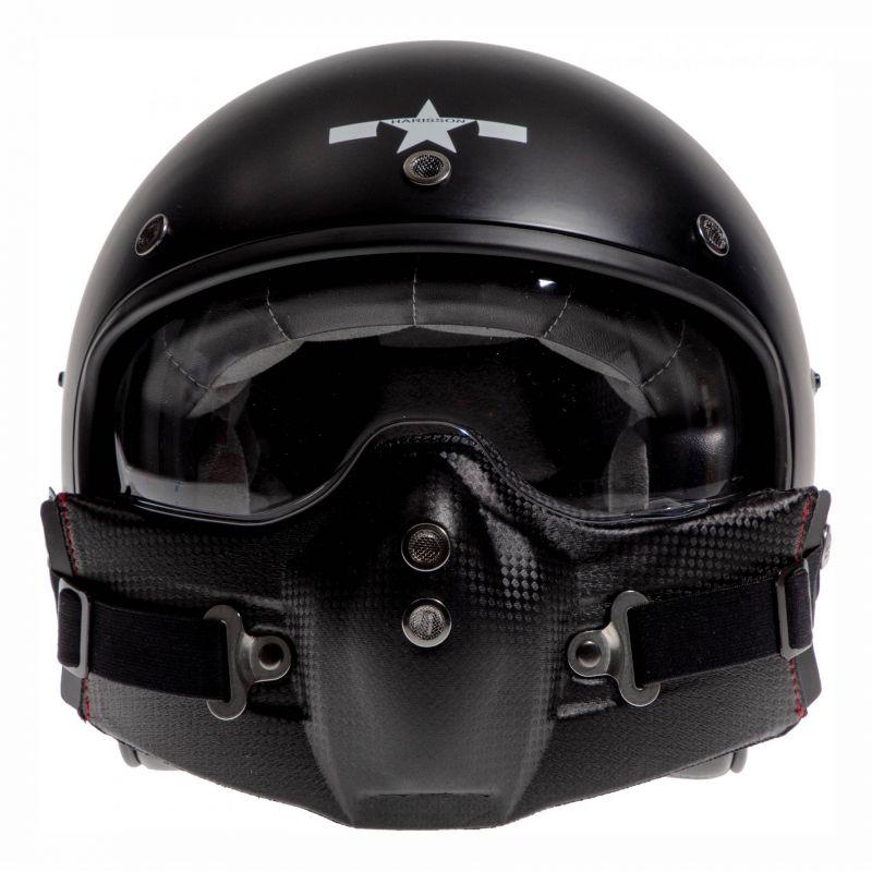 Casque jet Harisson Corsair Star Déco noir/blanc mat - 7