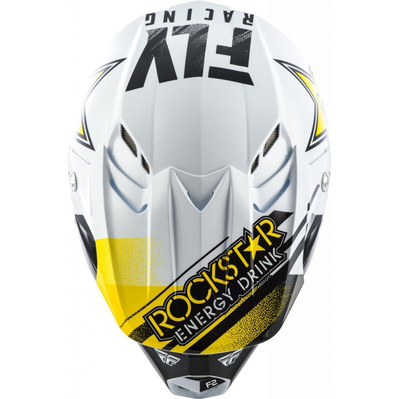 Casque cross Fly Racing F2 Rockstar noir/blanc - 2