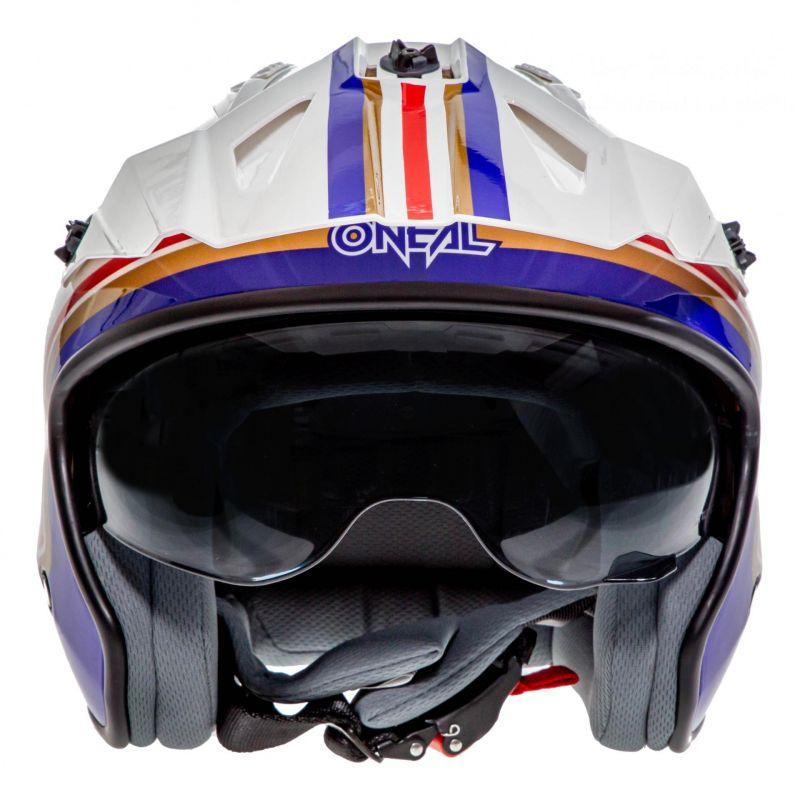 Casque jet O'Neal Volt Rothmans blanc/violet/rouge - 3