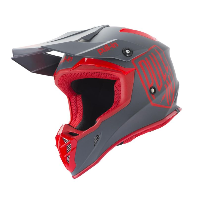 Casque cross Pull-in Solid rouge/gris