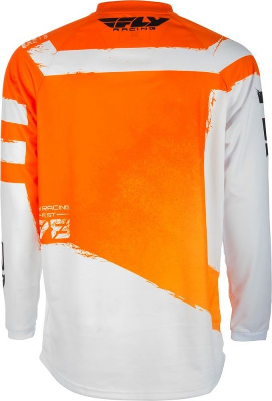 Maillot cross enfant Fly Racing F-16 orange/blanc - 1