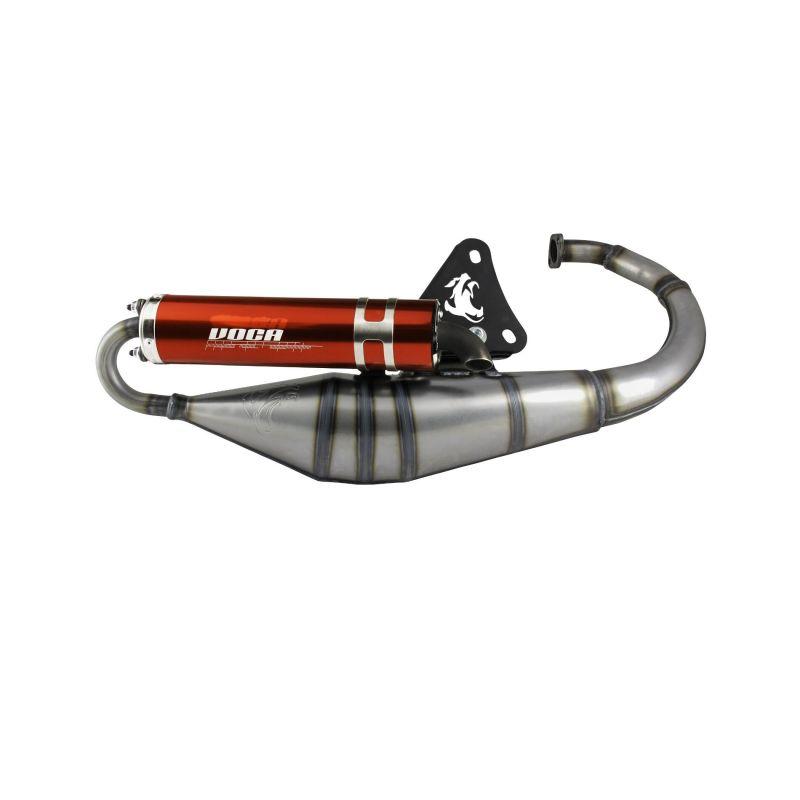Pot d'échappement Voca Sabotage V2 50/70 rouge Minarelli vertical