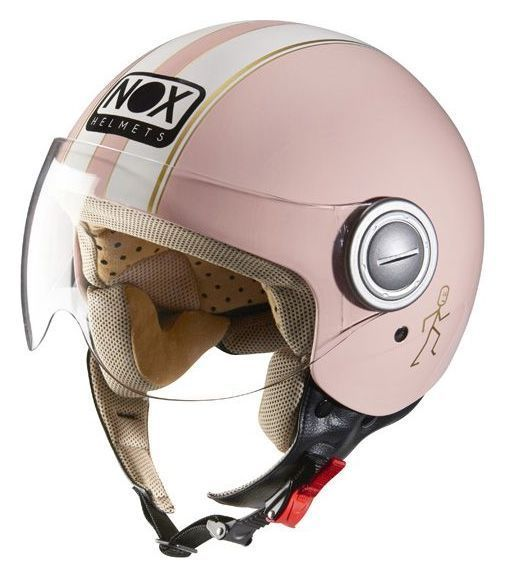 casque jet nox n210 rose pastel casques moto sur la b canerie. Black Bedroom Furniture Sets. Home Design Ideas