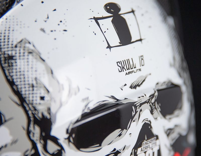 Casque intégral Icon Airflite Skull 18 noir/rouge - 3