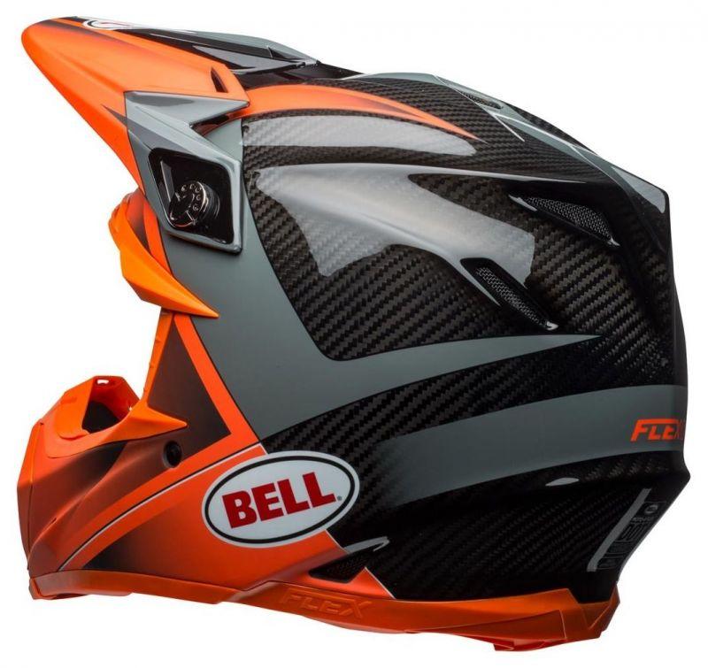 Casque cross Bell Moto 9 Flex Hound Gloss orange mat/charcoal - 3