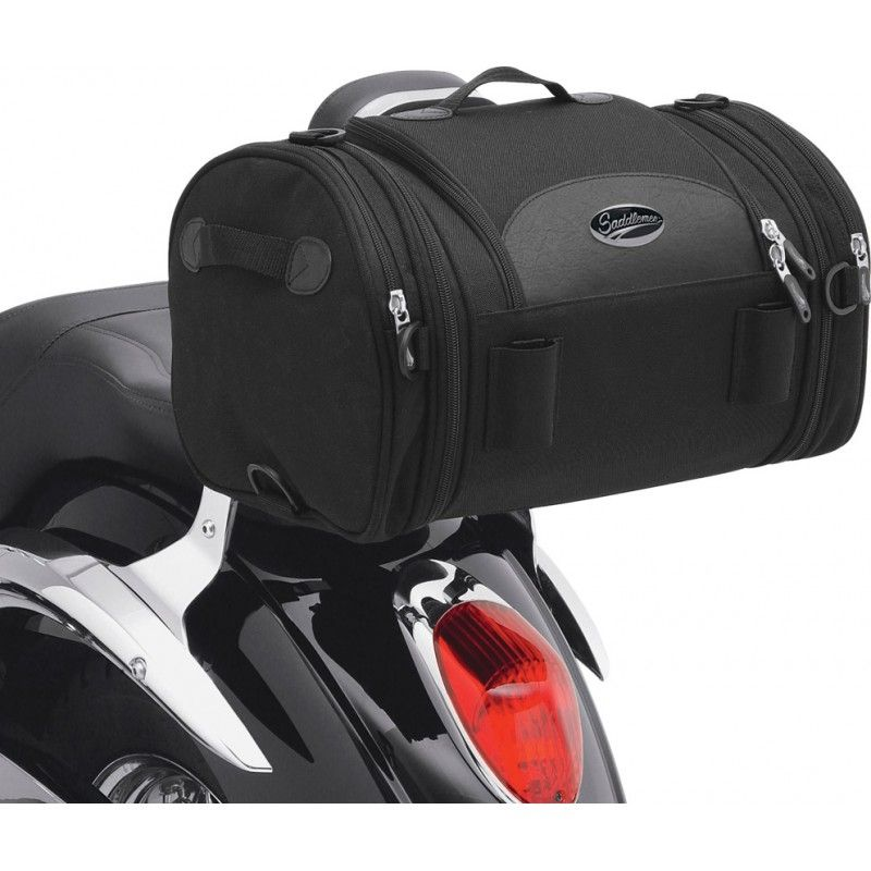 Sacoche de sissy bar Saddlemen R1300LXE Deluxe Roll Bag noire - 1