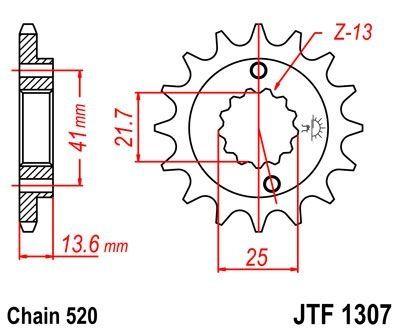 Pignon JT Sprockets Acier pas 520 15 dents - Pour Kawasaki ZX-6RR 03-06