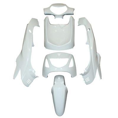 kit carrosserie 6 pi ces blanc brillant adaptable honda 125 sh pi ces car nage sur la b canerie. Black Bedroom Furniture Sets. Home Design Ideas