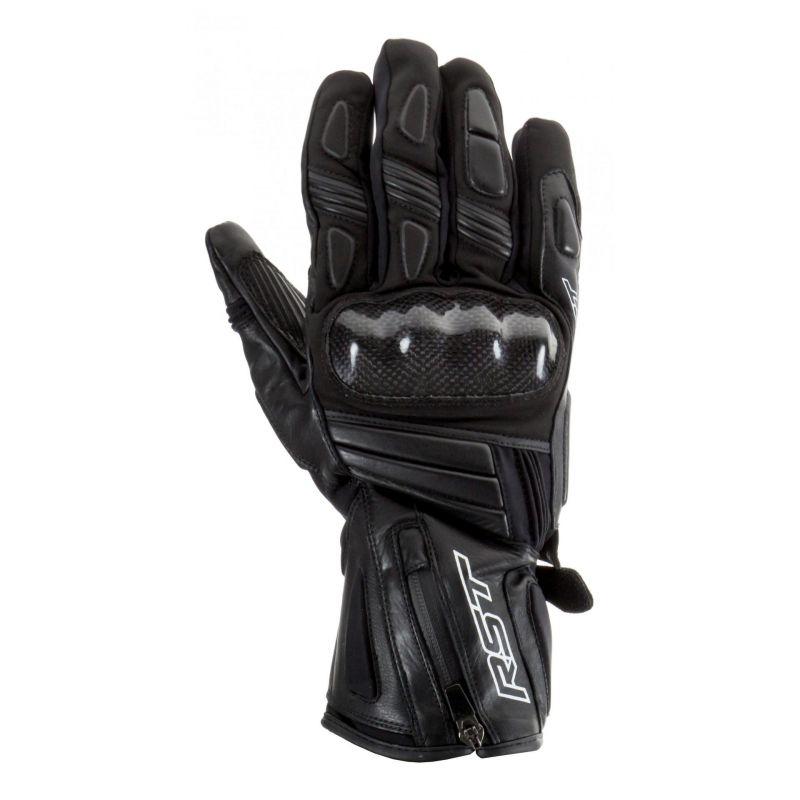 Gants cuir/textile RST Titanium II Outlast waterproof noir