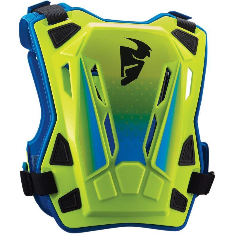 Pare-pierre enfant Thor Guardian MX vert fluo/bleu - 1