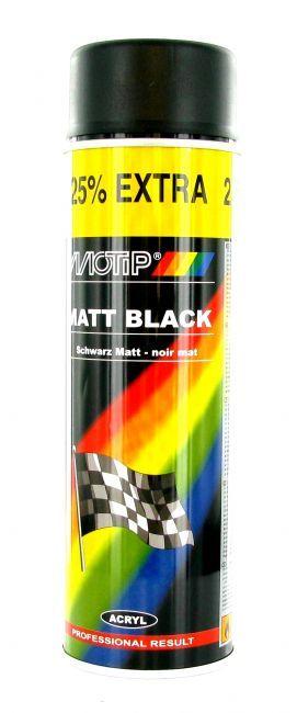 bombe peinture noir mat motip 500ml peinture sur la b canerie. Black Bedroom Furniture Sets. Home Design Ideas